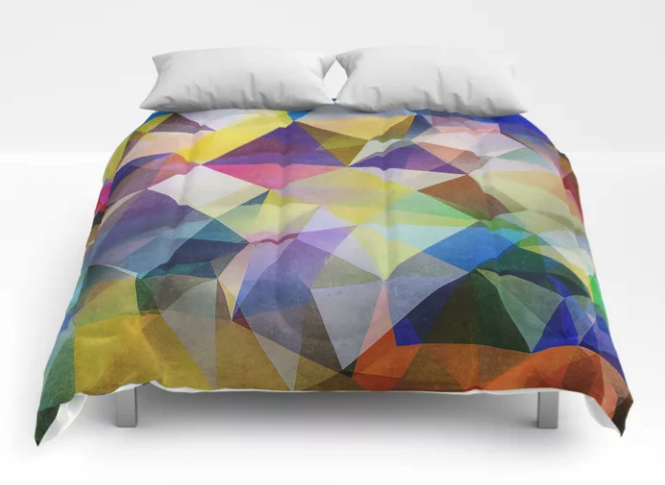 Textured Triangles Comforter