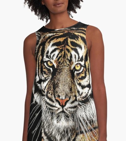 Tiger Eyes A-line Dress