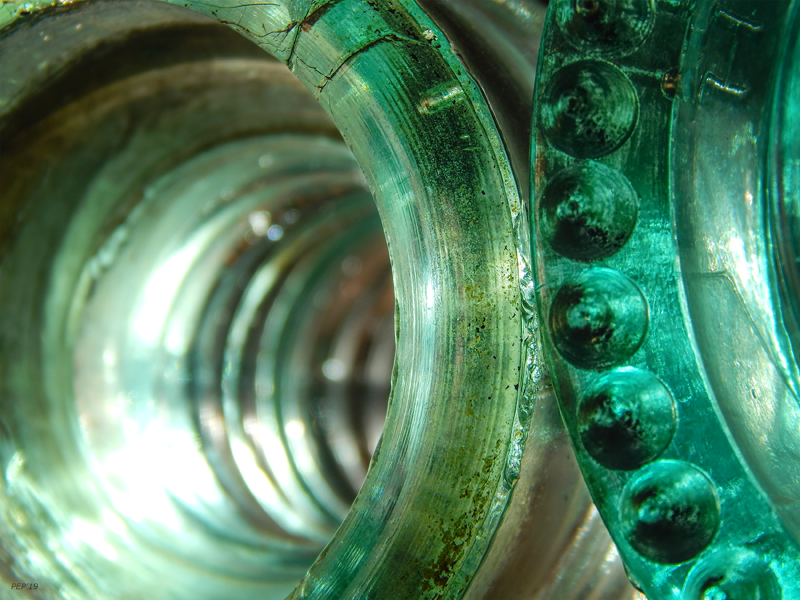 Vintage Green Glass Insulators