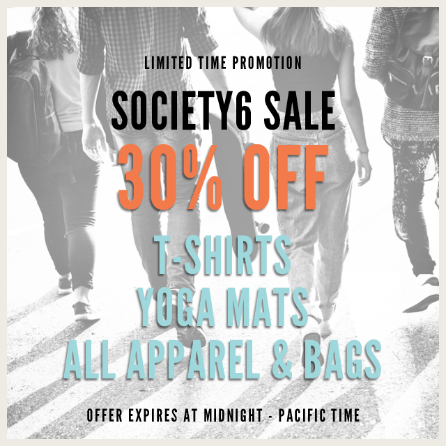 #Society6 Sale Today