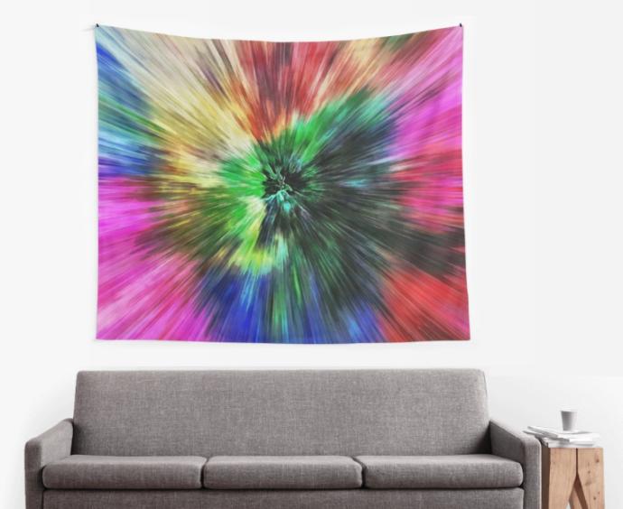 Starburst Tie Dye Wall Tapestry