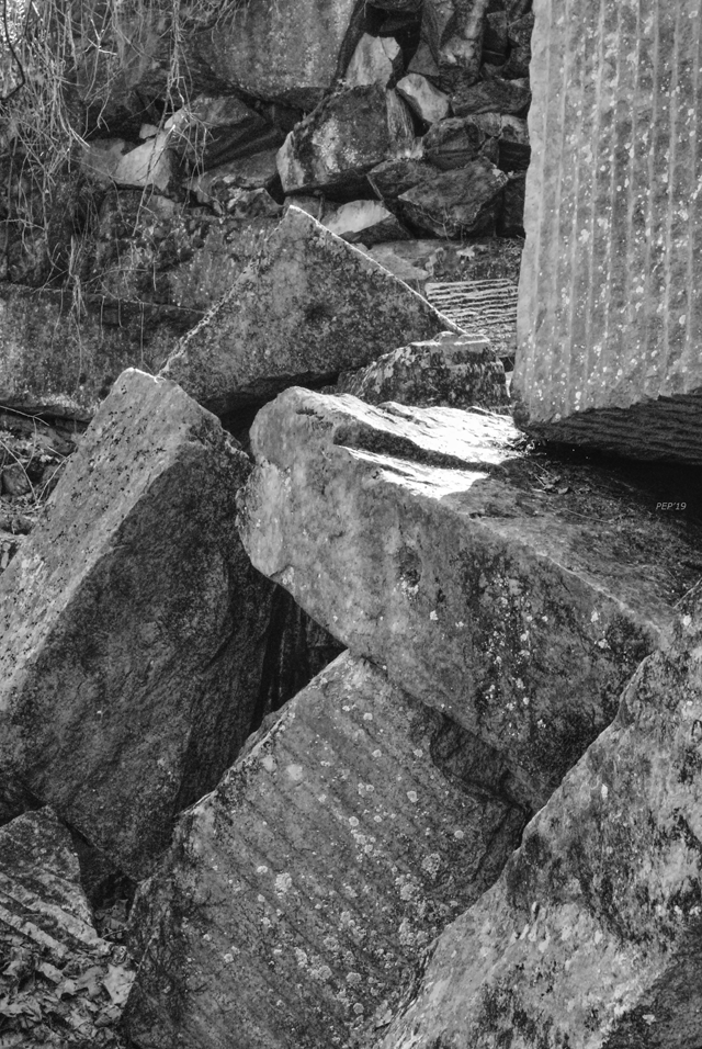 Black And White Boulders
