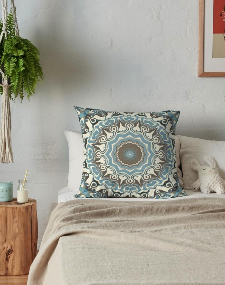 Earth tones throw pillows