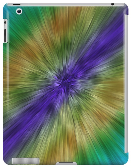 Starburst Tie Dye iPad Case