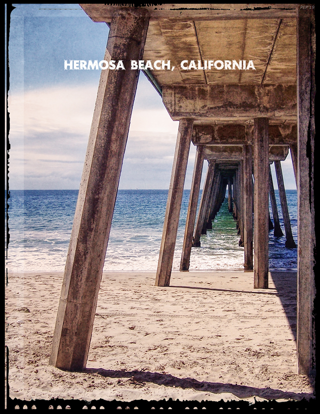 Graphic design of Hermosa Beach, California