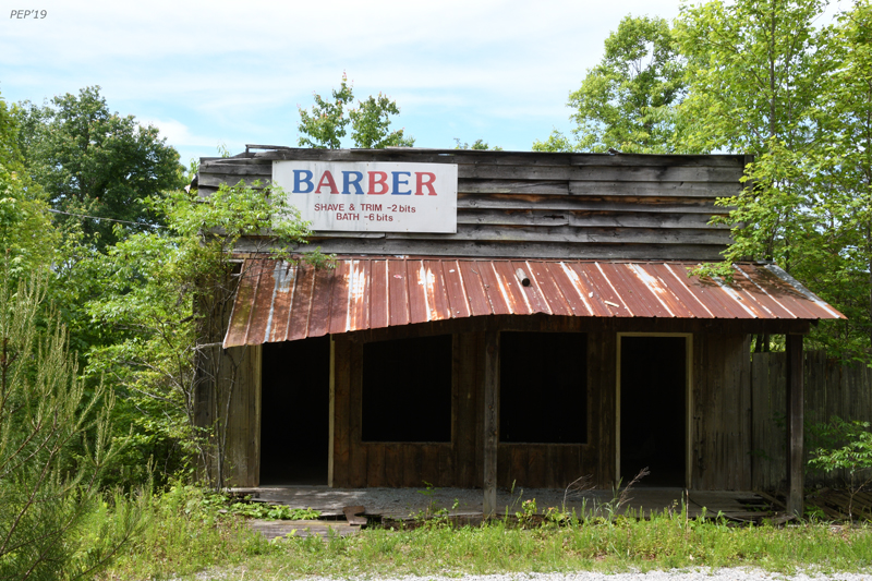 Ghost town barber shop