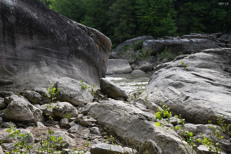 Boulders along the Cumberland River