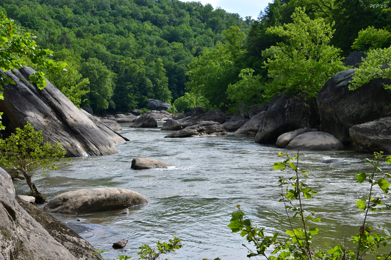 Boulders in the Cumberland River