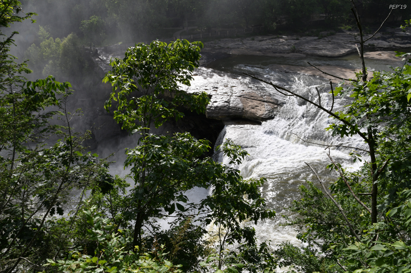 Cumberland Falls with observation deck