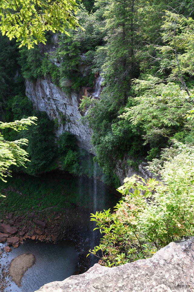 Fall Creek Falls, as seen from a ledge.