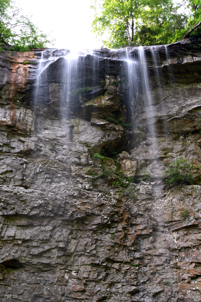 Fall Creek Falls, looking up with a zoom lens.